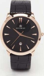 Accurist , Classic Black Leather Watch