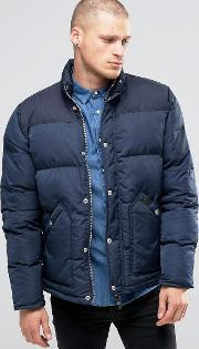Fat Moose , Canada Quilted Jacket 2 Tone Navy
