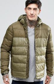 Fat Moose , Cosmo Quilted Jacket Hooded Army Green
