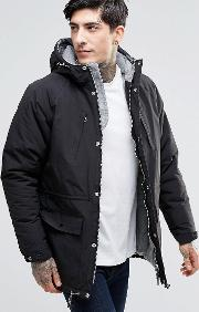 Fat Moose , Innercity Parka Brushed Cotton Lined Black