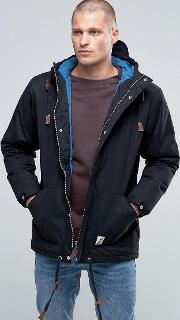 Fat Moose , Sailor Mid Parka Quilted Lining Black