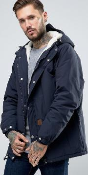 Fat Moose , Trotter Mid Parka Borg Lined Navy
