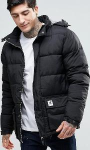 Fat Moose , Urban Heat Quilted Jacket Detachable Hood Black