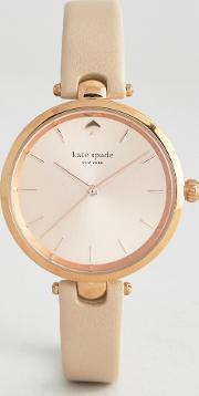 Kate Spade , New York Rose Gold Holland Leather Watch