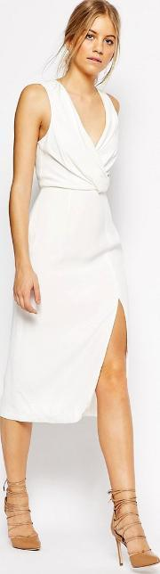 Cmeo Collective , C/meo Collective Bedroom Wall Sleeveless Dress In Ivory