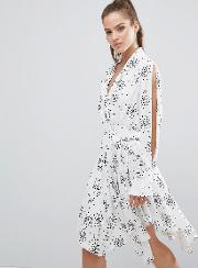 Cmeo Collective , C/meo Collective Interrupt Dress Ivory