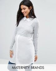 Mamalicious , Maternity Messo Tunic With Shirt Detail