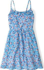 Johnnie  B , Greta Dress Cornflower Bouquet