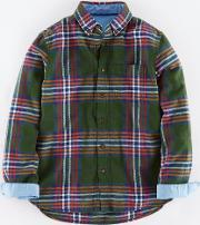Johnnie  B , Brushed Flannel Shirt Green Johnnie B Green