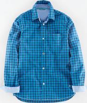 Johnnie  B , Laundered Shirt Blue Johnnie B Blue