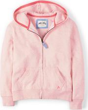 Johnnie  B , Zip Through Hoody Pink Melange Navy Melange