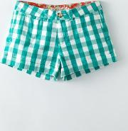 Johnnie  B , Chino Shorts Emerald Gingham Navy Ecru Spot Light Blue Satsuma Bouquet Multi Poppy Pansy