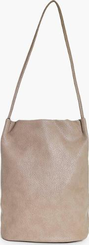 Boohoo , Origami Top Simple Duffle Bag - Taupe