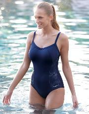 Zoggs , Newport Nautical Sports Swimsuit In Blue Print