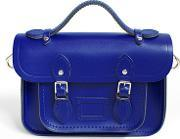 The Cambridge Satchel Company , Women's Mini Magnetic Leather Satchel With Branded Hardware Jet Blue