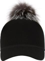 Charlotte Simone , Women's Sass Cap Single Pom Silver One Size
