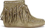 Ash , Women's Spirit Suede Fringed Ankle Boots Wilde Uk 3