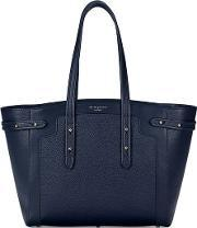 Aspinal Of London , Women's Marylebone Light Tote Bag Navy