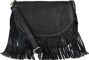 Becksondergaard , Becksondergaard Women's Lewis Fringed Shoulder Bag Black