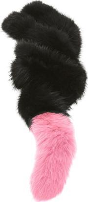 Charlotte Simone , Women's Popsicle Fur Scarf Blackcandy Pink Tail