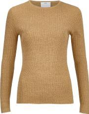 Cmeo Collective , Women's Shine On Long Sleeve Top Gold Suk 8