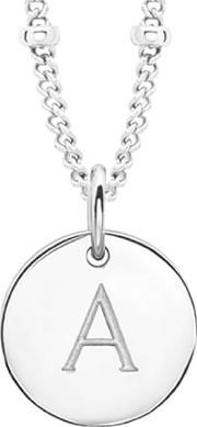 Missoma , Women's Initial Charm Necklace A Silver