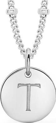 Missoma , Women's Initial Charm Necklace T Silver