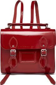 The Cambridge Satchel Company , Women's Barrel Backpack Patent Red