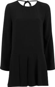 The Fifth , The Fith Women's Sound And Vision Long Sleeve Playsuit Black Uk 8