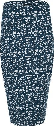 The Fifth , Women's Basic Instinct Skirt Geographic Blue Print M