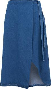 The Fifth , Women's Infinity Skirt Classic Blue Denim L