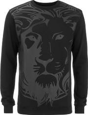Versus Versace , Men's Lion Logo Sweatshirt Black M