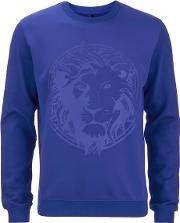 Versus Versace , Men's Lion Logo Sweatshirt Royal Blue L