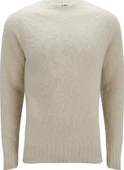 Ymc , Men's Geelong Brushed Wool Knitted Jumper Exclusive To Coggles Cream L