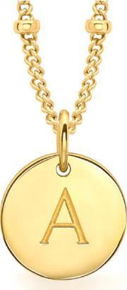 Missoma , Women's Initial Charm Necklace A Gold