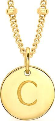 Missoma , Women's Initial Charm Necklace C Gold