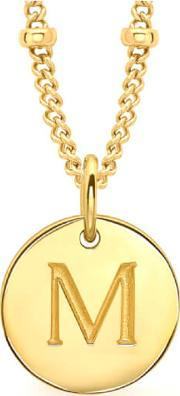 Missoma , Women's Initial Charm Necklace M Gold