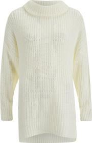The Fifth , Women's In Your Mind Knit Jumper Dress Ivory S