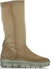 Suede , Magui Beige Studded Calf Boot