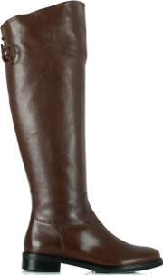 Luca Grossi , Luca 12 Tan Leather Flat Knee High Boot