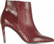 Kennel & Schmenger , Red Reptile Print 81 83210 Women's Ankle Boot