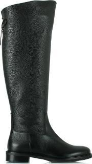 Luca Grossi , Luca 12 Black Leather Flat Knee High Boot