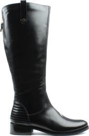 Df By Daniel , Grassmere Black Leather Tall Flat Riding Boot
