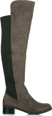 Df By Daniel , Wyedale Grey Over The Knee Boot