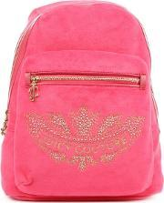 Juicy Couture , Marrakech Cameo Pink Velour Backpack