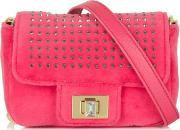 Juicy Couture , Mini G Glamour Pink Velour Messenger Bag