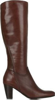 Lamica , Acimal 81 Burgundy Leather Knee High Boot