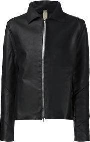 A Diciannoveventitre , Zipped Jacket Men Calf Leather 48, Black