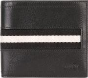 Bally , Tollent Stripe Panel Wallet Men Cottoncalf Leather One Size, Black