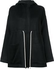 Bassike , Drawstring Hooded Jacket Women Nyloncashmerevirgin Wool 8, Women's, Black